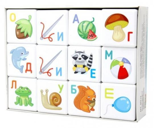 Кубики Десятое королевство Азбука 12 шт 00712 alatoys кубики азбука окрашенные 12 шт 4 цвета