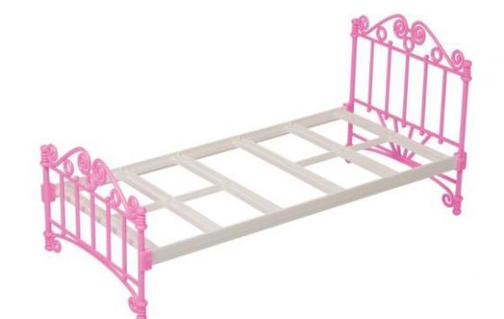 Кроватка для кукол Огонек Кроватка розовая С-1426 кроватка для кукол огонек 1028