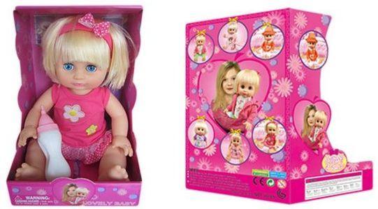 Кукла Defa Диана 35 см с бут., в ассорт., звук, эл.пит.вх.в компл., кор. кукла defa lucy принцесса 8182