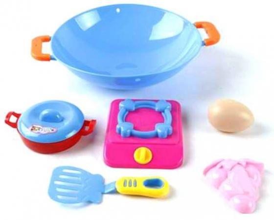 Набор посуды Наша Игрушка Набор посуды с вок-сковородой 111 игрушка mehano 1 f101 набор рельс