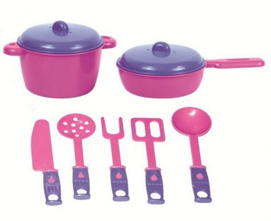 Набор посуды ZebraToys Повар 15-10037-9 zebratoys набор игрушечной посудки zebratoys повар 7 предметов