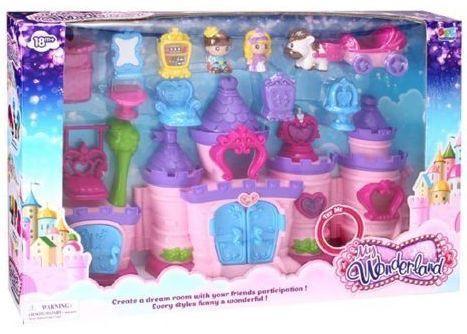 Замок Сказка, 2фигурки, лошадка, аксесс., 13 предм., свет, звук, батар.не вх.в компл., кор. игрушка наша игрушка лошадка 100694662