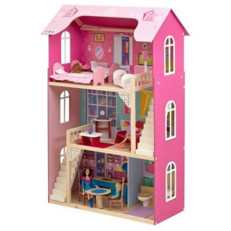 Кукольный домик Вдохновение, для кукол до 30 см (16 предметов мебели, 2 лестницы) цена