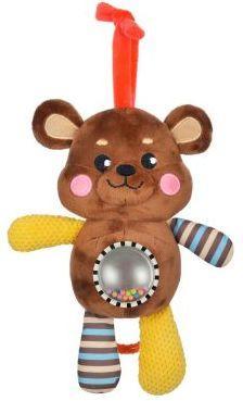 Музыкальная подвеска-погремушка с зеркальцем Мишка жирафики подвеска жирафики утенок с прорезывателем и зеркальцем