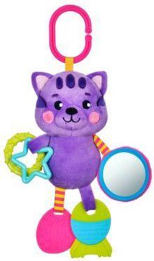 Подвеска с силиконовым прорезывателем и зеркальцем Котик подвесные игрушки жирафики с силиконовым прорезывателем и зеркальцем котик