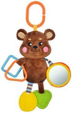 Подвеска с силиконовым прорезывателем и зеркальцем Мишка подвесные игрушки жирафики с силиконовым прорезывателем и зеркальцем котик