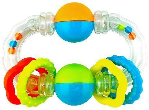 Функциональная погремушка  Звонкие кружочки стеллар погремушка дудочка стеллар