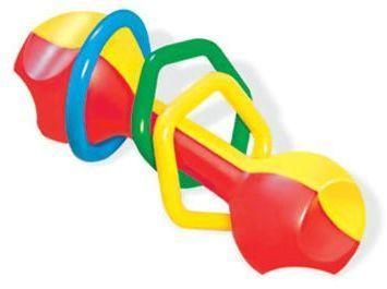 Погремушка Гантелька функциональная погремушка жирафики звонкая гантелька с шариками