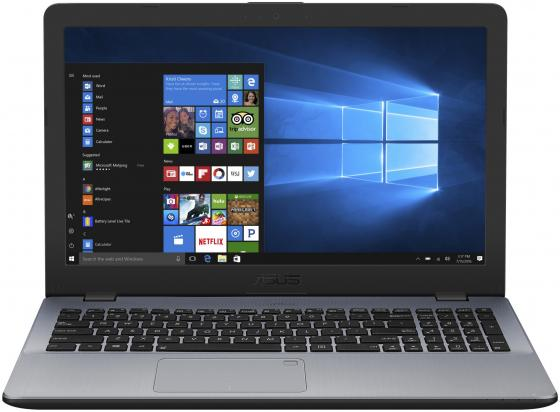 Ноутбук ASUS VivoBook 15 X542UN-DM163T 15.6 1920x1080 Intel Core i7-7500U 2 Tb 8Gb nVidia GeForce MX150 4096 Мб серый Windows 10 Home 90NB0G82-M02680