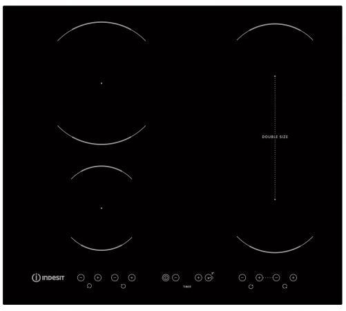 Варочная панель электрическая Indesit VID 641 B C черный встраиваемая электрическая варочная панель smeg si 5633 b