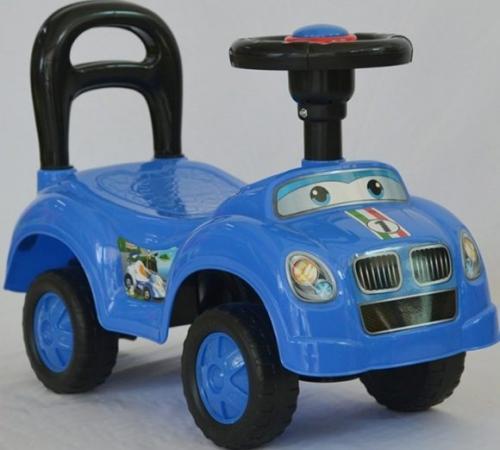 Каталка на шнурке Наша Игрушка Машина-каталка Авторалли пластик от 3 лет на колесах синий Q09-1/BLUE каталка на шнурке brio вертолёт дерево от 1 года зеленый