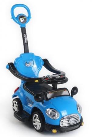 Каталка-машинка Наша Игрушка Машина-каталка Лидер пластик от 3 лет на колесах синий L3018/BLUE каталка на шнурке наша игрушка машина каталка авторалли пластик от 3 лет на колесах розовый q09 1 pink