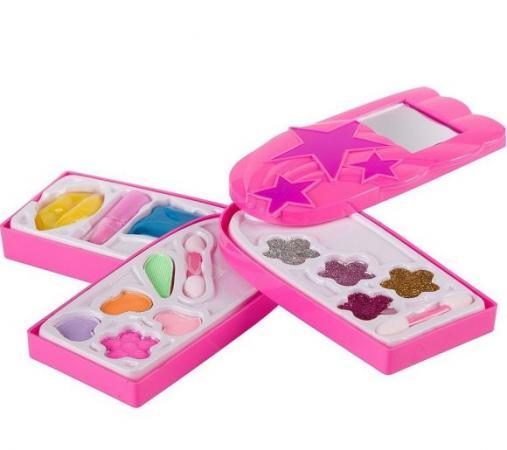 Набор детской декор. косметики Eva Moda, BOX 27*19*6,2 см, косметичка-телефон, 3х-уровневая