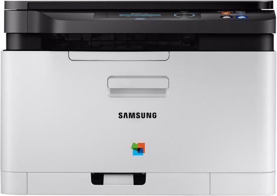 МФУ Samsung Xpress SL-C480 цветное А4 18ppm 2400x600dpi USB SS254E мфу lexmark cx410e цветное а4 30ppm с автоподатчиком lan