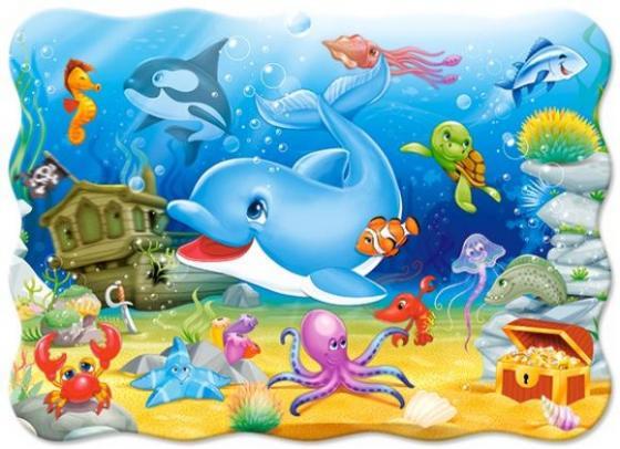 Пазл 30 элементов Кастор Подводные друзья В-03501 пазл 55 элементов кастор времена года в 043019