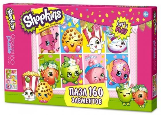 Пазл 160эл Shopkins Праздник в Шопвилле пазл оригами 160эл 22 22см тоботы любимые герои 03577