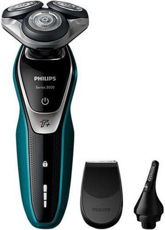 Бритва Philips S5550/44 чёрный бритва роторная philips s5550 44 реж эл 3 питан аккум голубой черный