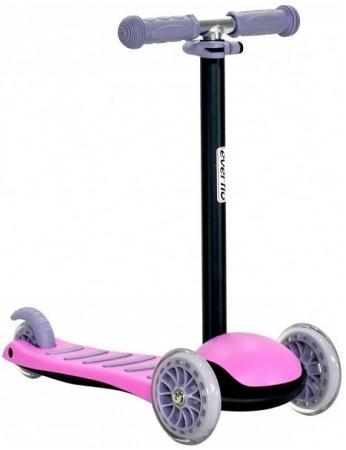 Фото - Самокат трехколёсный Everflo С001-1 Pink розовый С001-1 коляска прогулочная everflo safari grey e 230 luxe