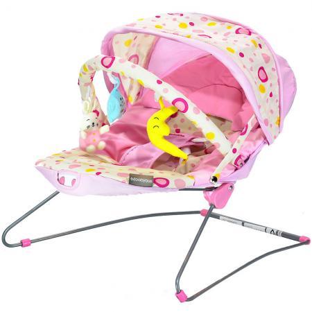 Стульчик-шезлонг Everflo Baby Bouner Bebebybus (pink) шезлонг happy baby nesty
