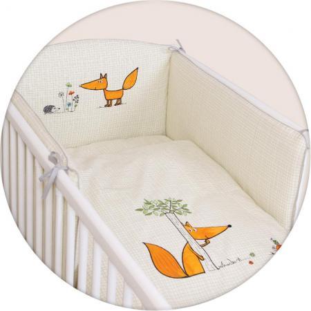 Постельное бельё 3 предмета Ceba Baby (вышивка/fox ecru) матраc пеленальный ceba baby 70 см мягкий с изголовьем fox ecru w 103 059 170
