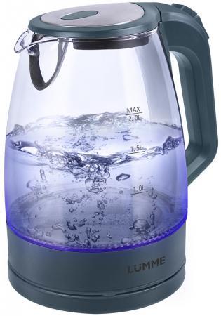 Чайник Lumme LU-138 2200 Вт серый жемчуг 2 л пластик/стекло