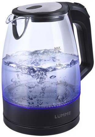 Чайник Lumme LU-138 2200 Вт черный жемчуг 2 л пластик/стекло чайник lumme lu 140 темный топаз 2200 вт 2 л стекло
