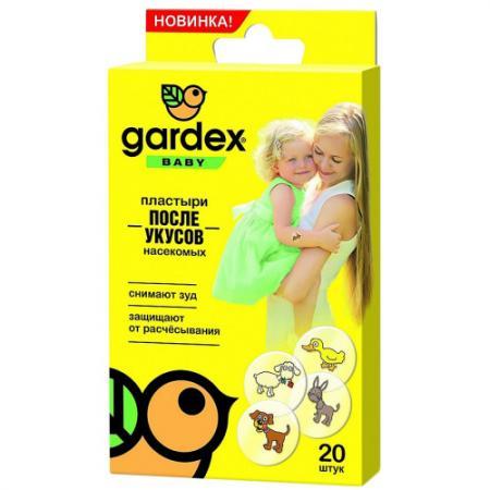 Gardex Baby Пластыри после укусов насекомых picnic крем гель после укусов насекомых гипоаллергенный 30 мл picnic baby