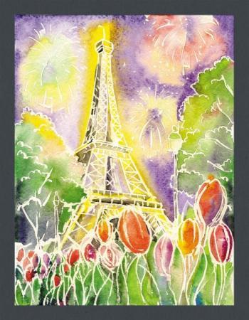 Набор для тв-ва Волшебные акварели Романтика в Париже набор для тв ва раскраска по номерам золушка
