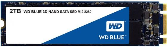 Твердотельный накопитель SSD M.2 2Tb Western Digital Blue Read 560Mb/ Write 530Mb/ SATAIII WDS200T2B0B