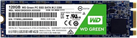 Твердотельный накопитель SSD M.2 120Gb Western Digital Green Read 545Mb/s SATAIII WDS120G2G0B western digital wd green series интерфейс 120g m 2 твердотельный накопитель wds120g1g0b