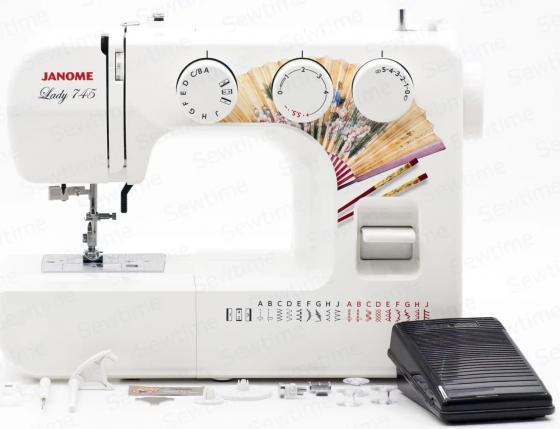 Швейная машинка Janome Lady 745 белый janome el545s швейная машинка
