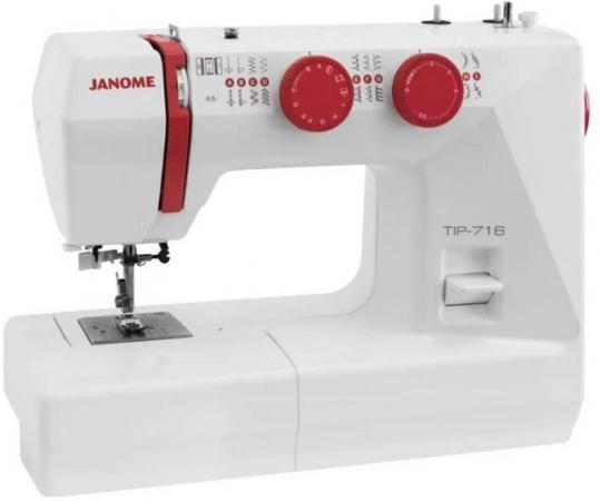 Швейная машинка Janome Tip 716 белый швейная машинка janome dresscode