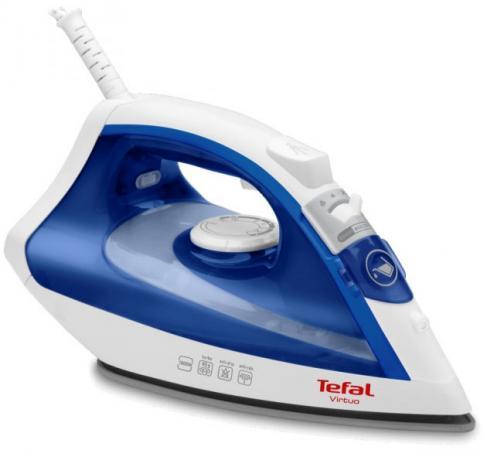 Утюг Tefal Virtuo FV1711 1800Вт синий белый отпариватель tefal is3365e1 синий белый [1830005528]