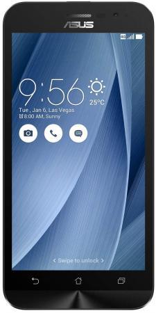 Фото Смартфон ASUS ZenFone Go ZB500KG серебристый 5 8 Гб Wi-Fi GPS 3G 90AX00B5-M00170 смартфон asus zenfone go zb500kg
