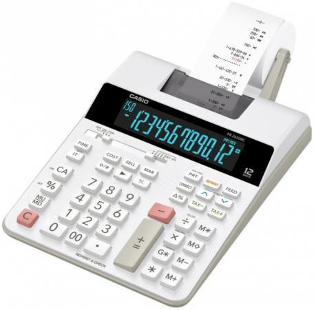 Калькулятор печатающий CASIO FR-2650RC-W-EC 12-разрядный серый/белый калькулятор casio hr 150rce wa ec 12 разрядный черный