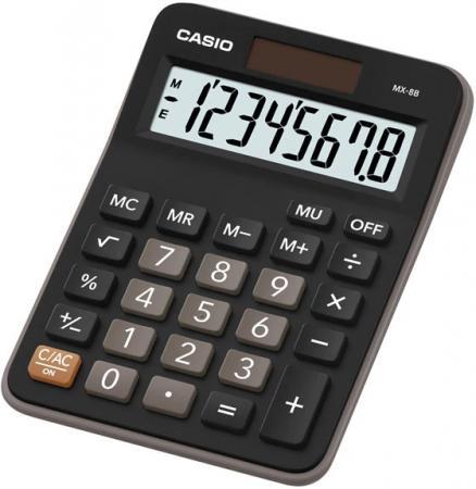 Калькулятор настольный CASIO MX-8B 8-разрядный черный калькулятор casio hl 820lv 8 разрядный черный