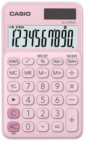 Калькулятор карманный CASIO SL-310UC-PK 10-разрядный розовый калькулятор карманный casio hl 820lv 8 разрядный