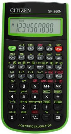 Калькулятор научный Citizen SR-260N 10-разрядный зеленый