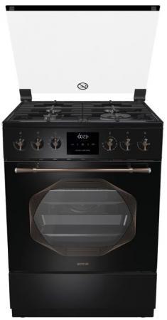 Комбинированная плита Gorenje K63INB черный цена и фото