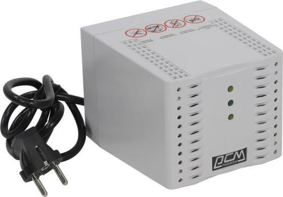 Стабилизатор напряжения Powercom TCA-3000 4 розетки белый цена