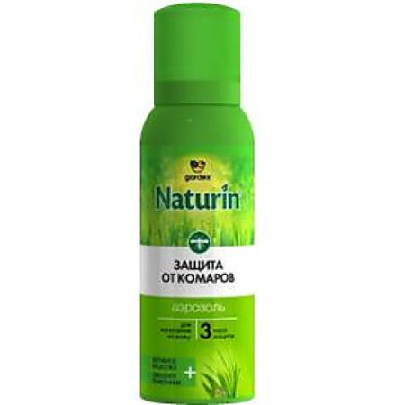 NATURIN Аэрозоль-репеллент от комаров 100мл аэрозольоткомаров hypoallergenicна 125см3 picnic