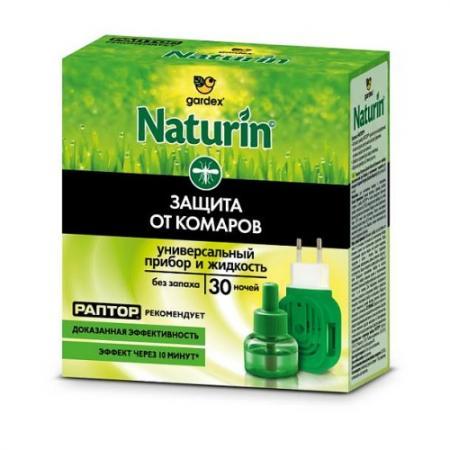 Naturin Комплект прибор универсальный жидкость от комаров без запаха 30 ночей раптор turbo жидкость от комаров 40 ночей без запаха