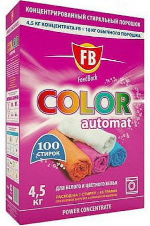 Стиральный порошок FeedBack Color 100 4.5кг 947162 порошокстиральныйcolor автомат3кг