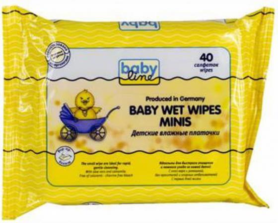 Влажные платочки Babyline 40 шт гипоаллергенные babyline влажные салфетки комфорт 80 шт babyline