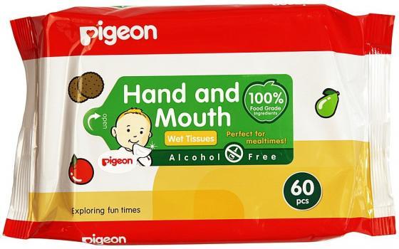 Салфетки влажные Pigeon 60 шт гипоаллергенные не содержит спирта чехол liberty project для apple iphone 6 6s transperent black