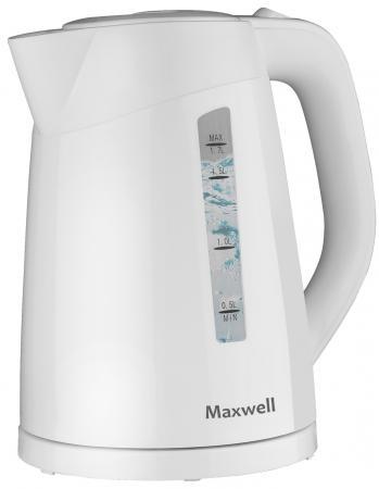 Чайник Maxwell MW-1097(W) 2200 Вт белый 1.7 л пластик чайник maxwell mw 1083 tr 2200 вт чёрный 1 7 л стекло