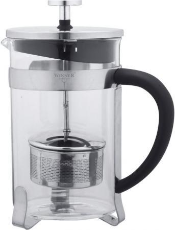 Чайник заварочный Winner WR-5208 прозрачный металлик 0.8 л металл/стекло чайник 0 6 л winner чайник 0 6 л