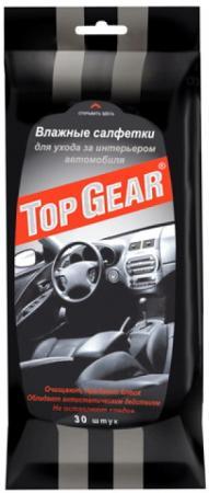 Фото - Салфетки влажные Top Gear 30 шт для интерьера для ухода за салоном авто авто