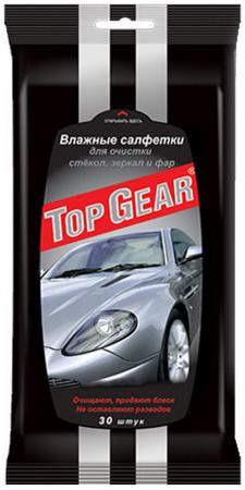 Салфетки влажные Top Gear 30 шт для стекол,фар,зеркал салфетка grass it0313 для стекол зеркал фар