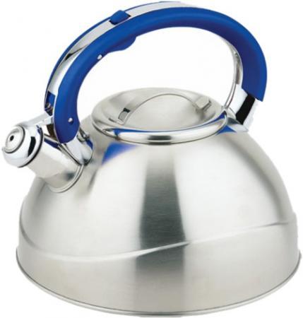 Чайник Teco TC-109-B серебристый синий 3 л нержавеющая сталь брелок taya цвет серебристый синий t b 13284